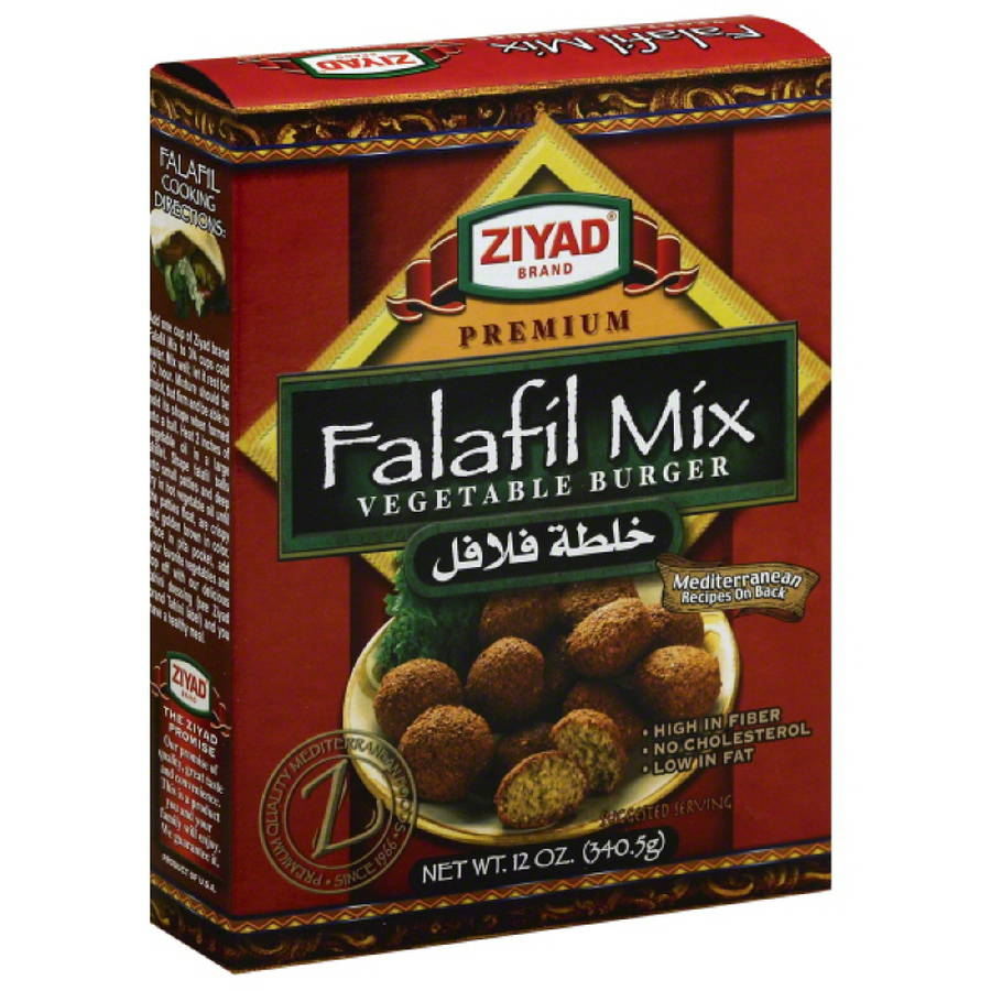 Ziyad Brand Premium Falafil Mix Vegetable Burger, 12 oz, (Pack of 6)