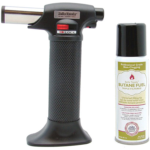 Wall Lenk Bella Tavola Creme Brulee Culinary Torch with Butane Fuel