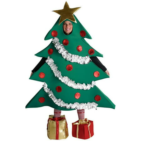 Christmas Tree Men's Adult Costume, One Size, (40-46) - Christmas Holiday Costumes