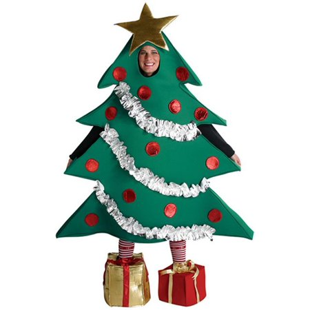 Christmas Tree Men's Adult Costume, One Size, (40-46) - Christmas Theme Costume