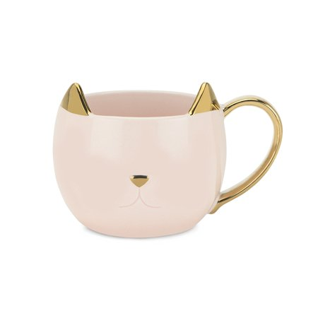 Funny Coffee Mug  Chloe Pink Cat Insulated Tea Cute Novelty Ceramic Coffee Mug