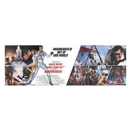"Moonraker - movie POSTER (Style E) (20"" x 50"") (1979)"