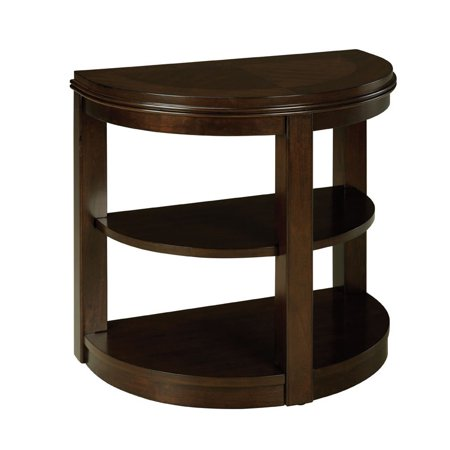 standard furniture spencer half moon chair side table in cherry. Black Bedroom Furniture Sets. Home Design Ideas