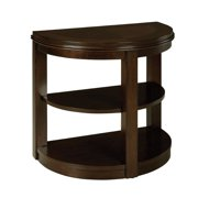Standard Furniture Spencer Half Moon Chair Side Table in Cherry
