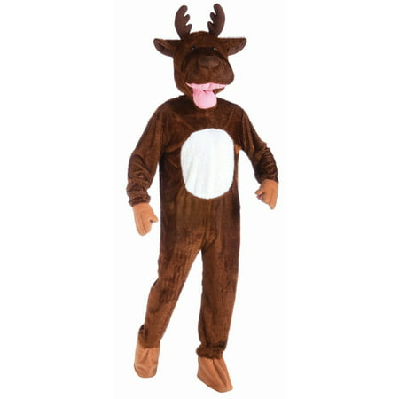 Halloween Plush Moose Adult Costume](Bullwinkle Moose Halloween Costume)