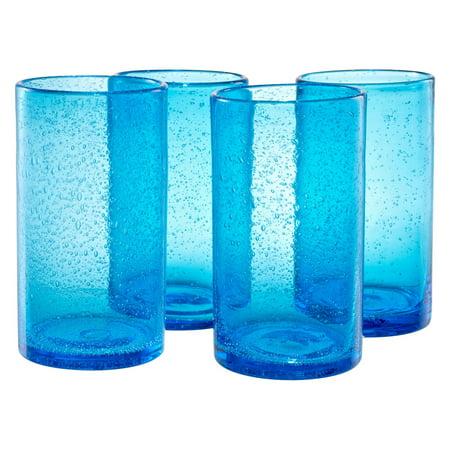 Artland Inc. Iris Turquoise HiBall Glasses - Set of 4
