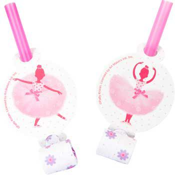 Creative Converting BB021341 Ballerina Party Blowers - 8-Pack