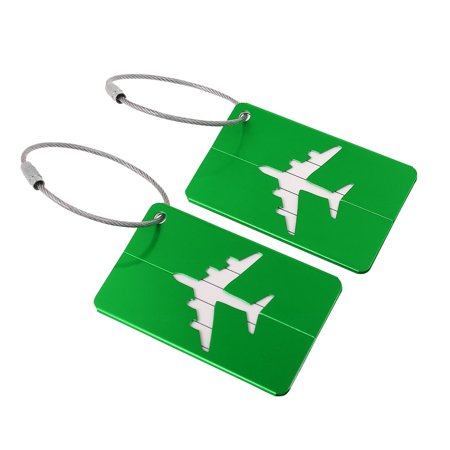 Luggage Tags Aluminium Metal Bag Travel ID Labels Tag Suitcase Card