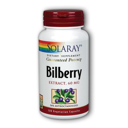 Solaray Bilberry Extract 60 mg - 120 Vegetarian Capsules