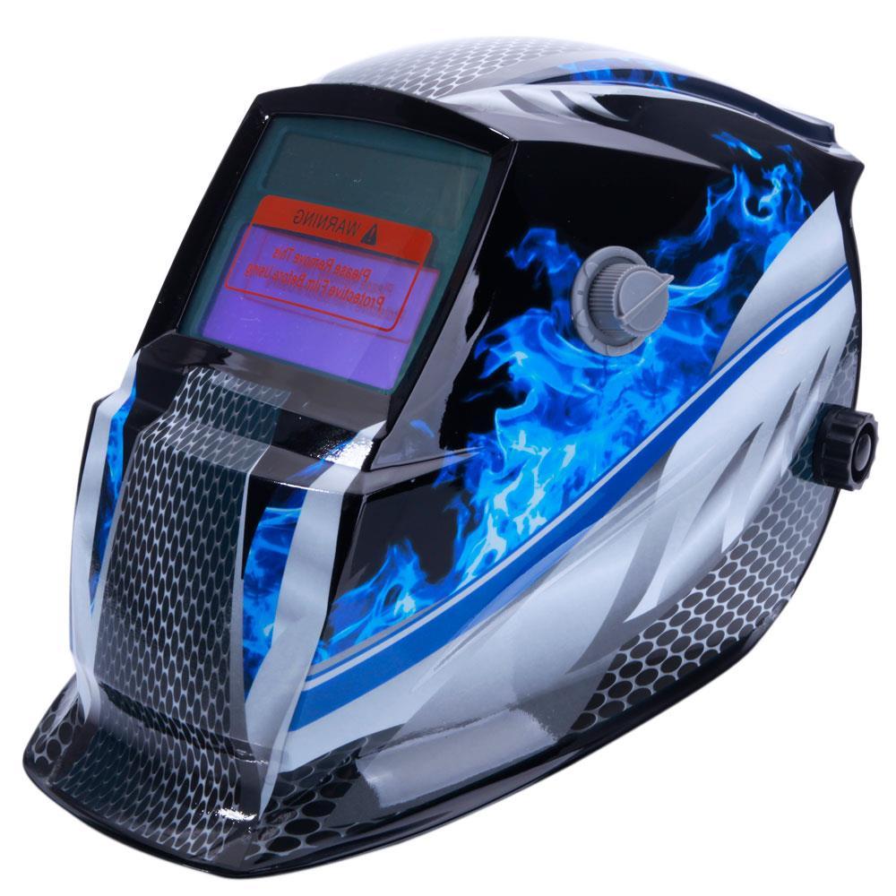 Ktaxon Pro Solar Auto Darkening Welding Helmet Tig Mask Grinding Welder Protective Gear with 2 Baffles for Replacement,Racer