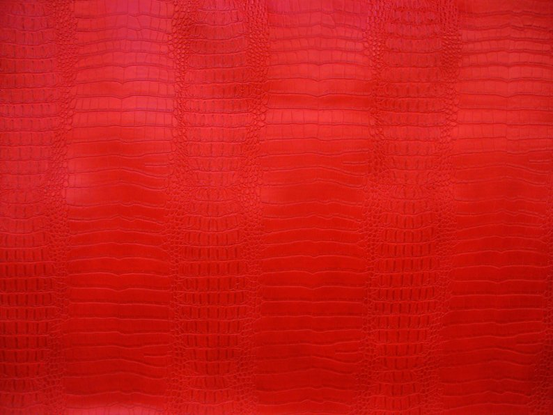 SHIPS FOLDED BIG NILE CROCODILE 3D Texture Faux Leather Upholstery Vinyl Fabric