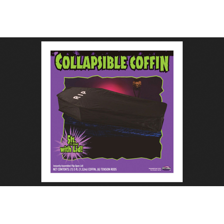 Fun Fx Halloween Store (Fun World Collapsible Coffin Halloween Decoration Black 5 ft. L 1)