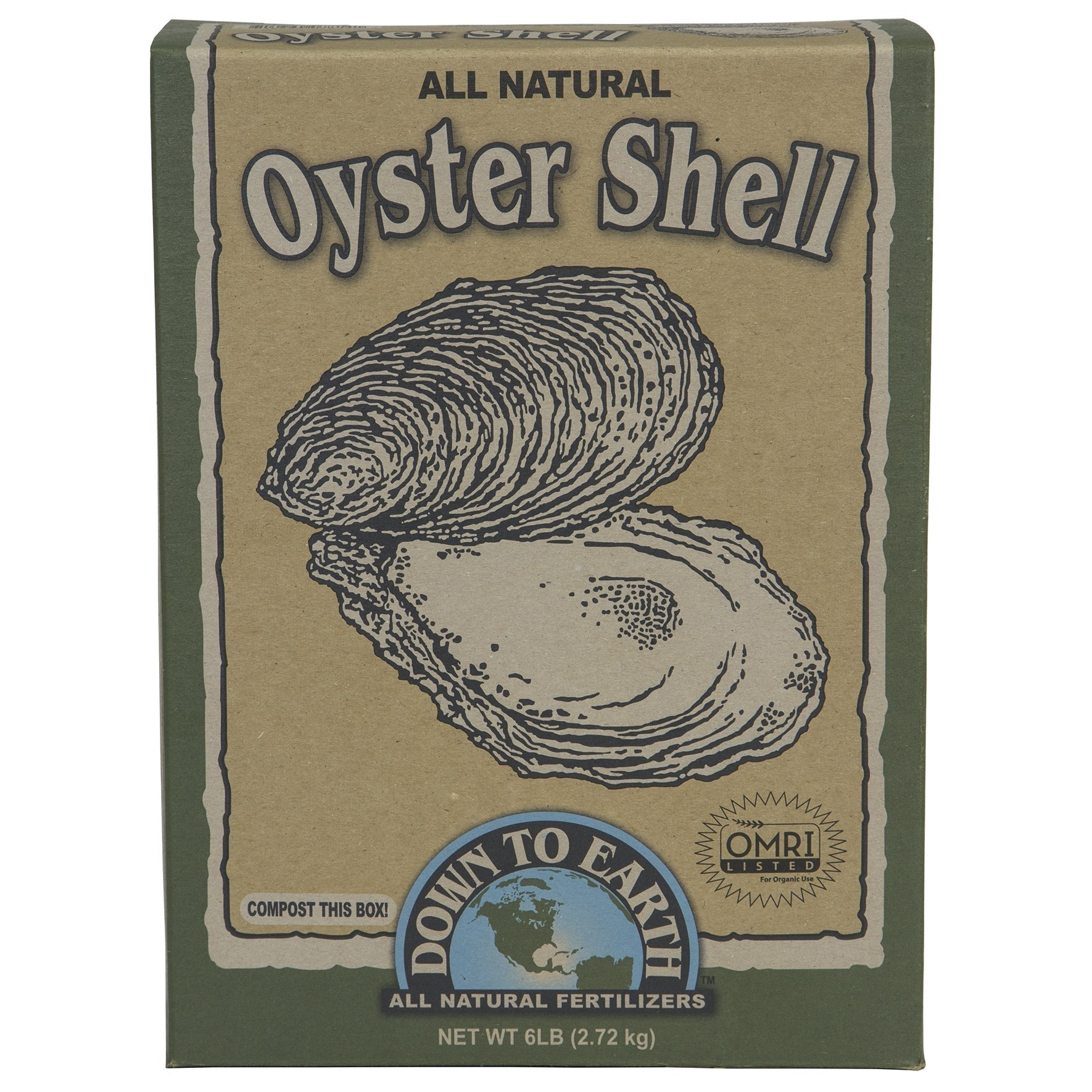 Down To Earth 07814 6 Lb All Natural Oyster Shell Flour Walmart