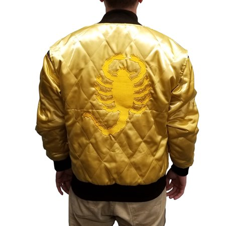 Cosplay Costumes For Men (Scorpion Jacket Drive Movie Driver Ryan Gosling Adult Satin Coat Cosplay)