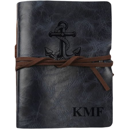 Antique Leather Journals - Anchor Custom Genuine Leather Antique Wrap Journal, 5 3/4