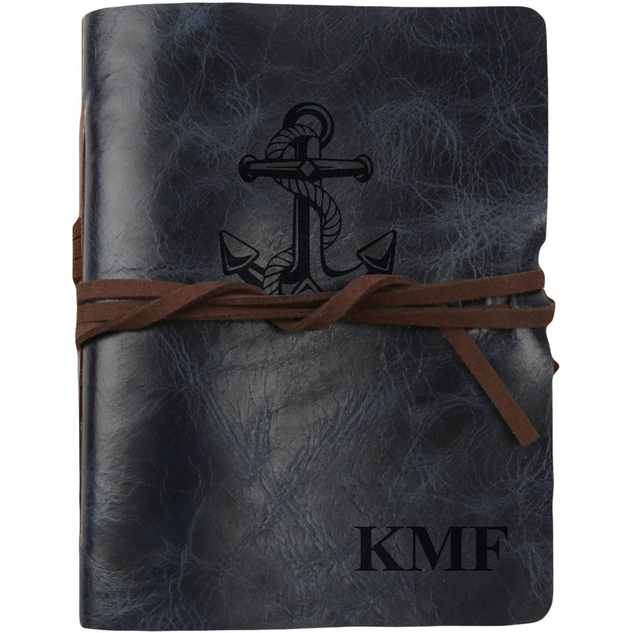 "Anchor Custom Genuine Leather Antique Wrap Journal, 5 3/4"" x 4 1/2"""
