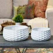 Urban Trends 2-Piece Ceramic Pot Planter Set