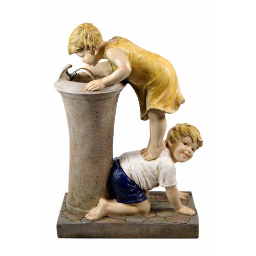 "27"" Boy and Girl Drinking Water Fountain with LED Light by Alpine Corporation"