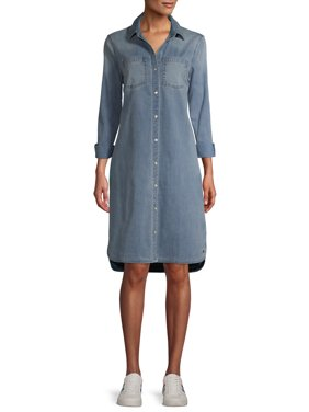EV1 from Ellen DeGeneres Womens Denim Shirtdress