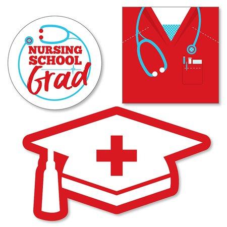 Nurse Graduation - DIY Shaped Medical Nursing Graduation Party Cut-Outs - 24 ct ()
