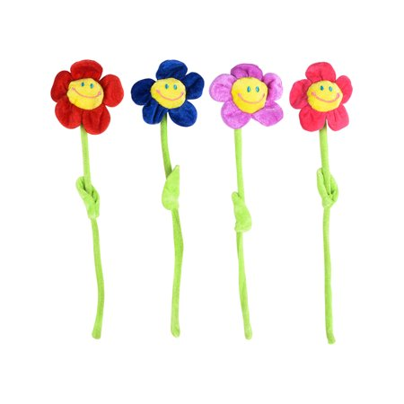 4 Valentine's Day Sweetheart Plush Fake Daisy Flowers Costume Accessory - Costume Fake Teeth