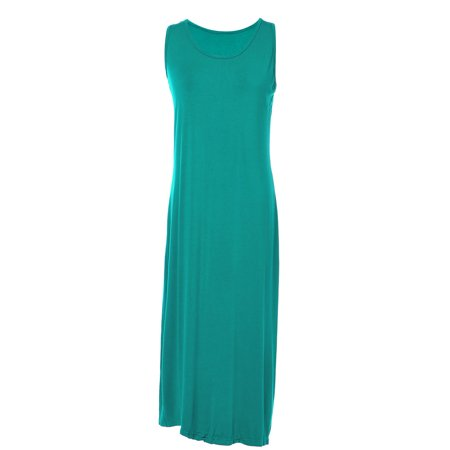S/M Fit Green St Patricks Tank Inspired Basic Long Length Maxi Dress - St Patricks Dress