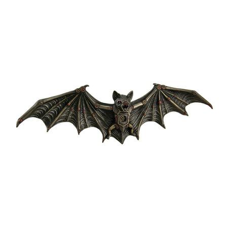 Mechanical Steampunk Vampire Bat Bronze Finish Wall Sculpture