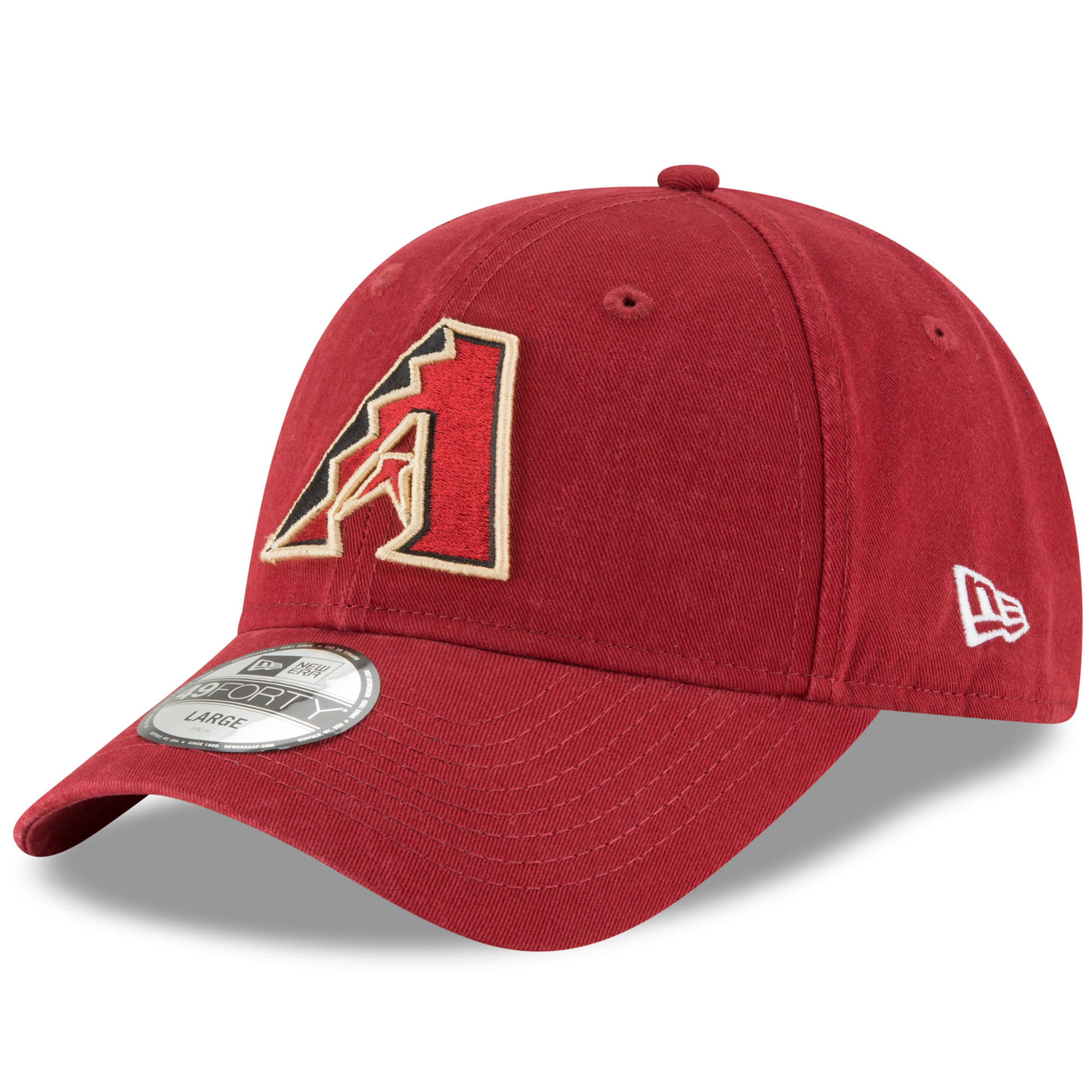 Arizona Diamondbacks New Era Core Fit 49FORTY Fitted Hat - Red