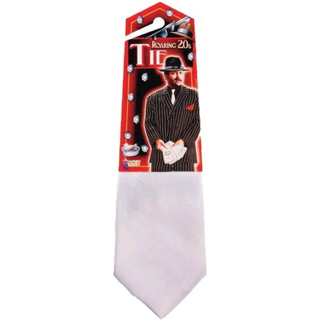 White Gangster Tie Halloween Accessory for $<!---->