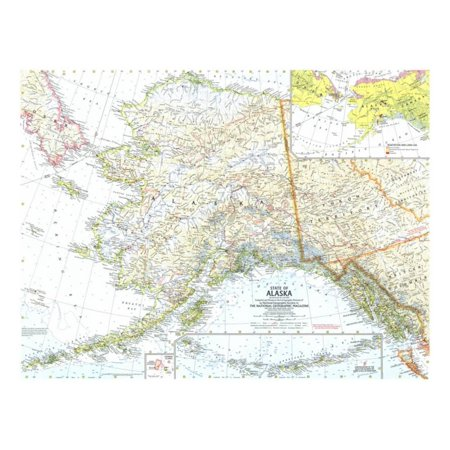 1959 State Of Alaska Map Print Wall Art By National Geographic Maps