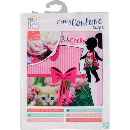 Dress Your Doll Making Couture Outfit Set Cecily Kitten