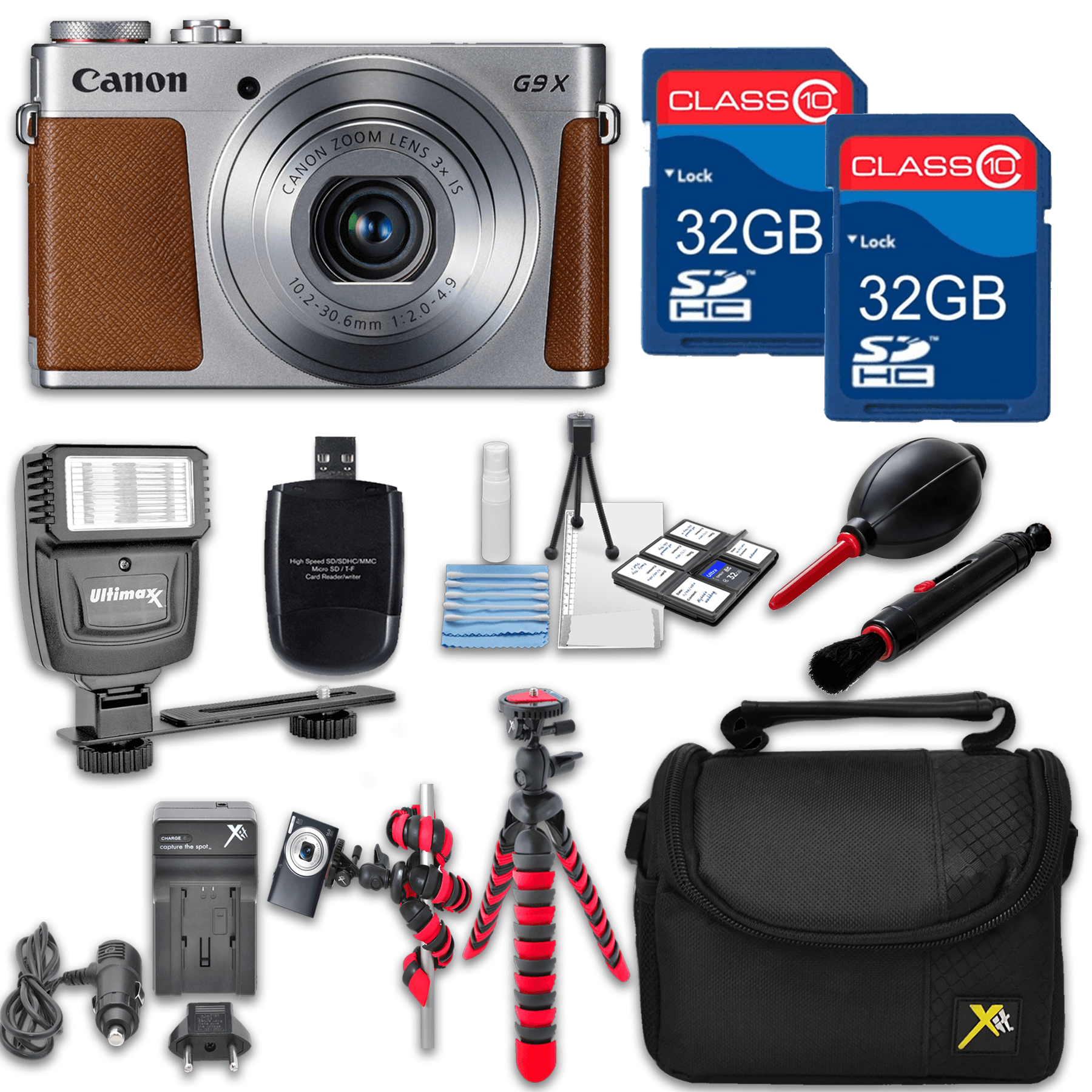 Canon Powershot G9 X (Silver) HS Point and Shoot Digital Camera, W/...