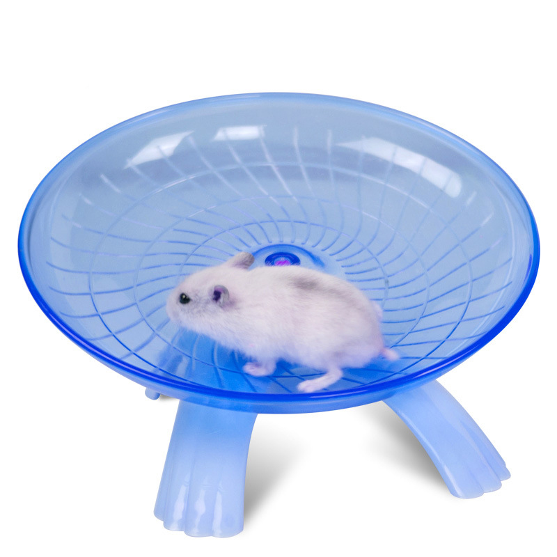 Flying Saucer Exercise Wheel for Small Pets, 18 cm 7.09 inch Hamsters Running Disc, Comfort Pet Toys Blue by