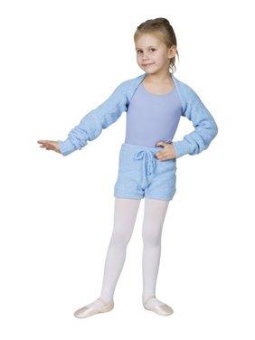 Sansha Blue Milotta Soft Long Sleeve Dance Back Warmer Girls 4-14