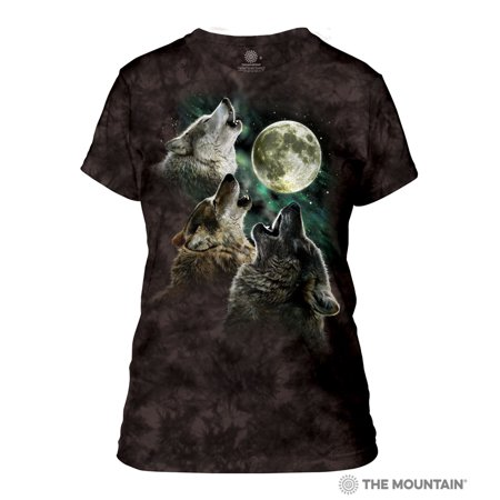 The Mountain THREE WOLF MOON Adult Female T-Shirt](Adult Female)