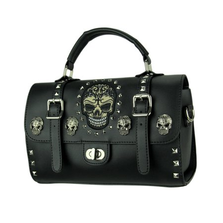 Tattooed Skulls and Spikes Doctor Shoulder Bag with Removable - Doctor With Tattoos