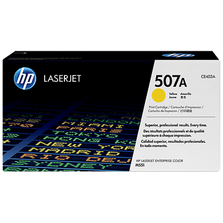HP 507A (CE402A) Yellow Original Laser Jet Toner Cartridge 110 Laser Toner Cartridge
