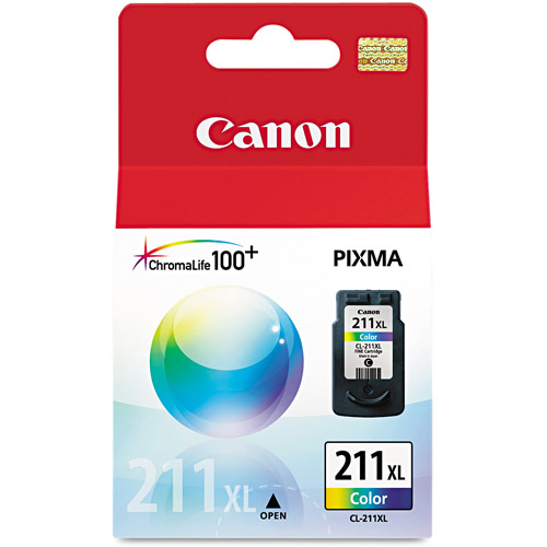 Canon CL211XL Extra-Large Tri-Color Ink Cartridge (2975B001)