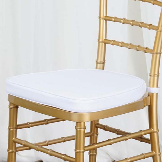 "eFavormart 5PCS 2"" Thick Wedding Party Chiavari Chair Cushion, White"