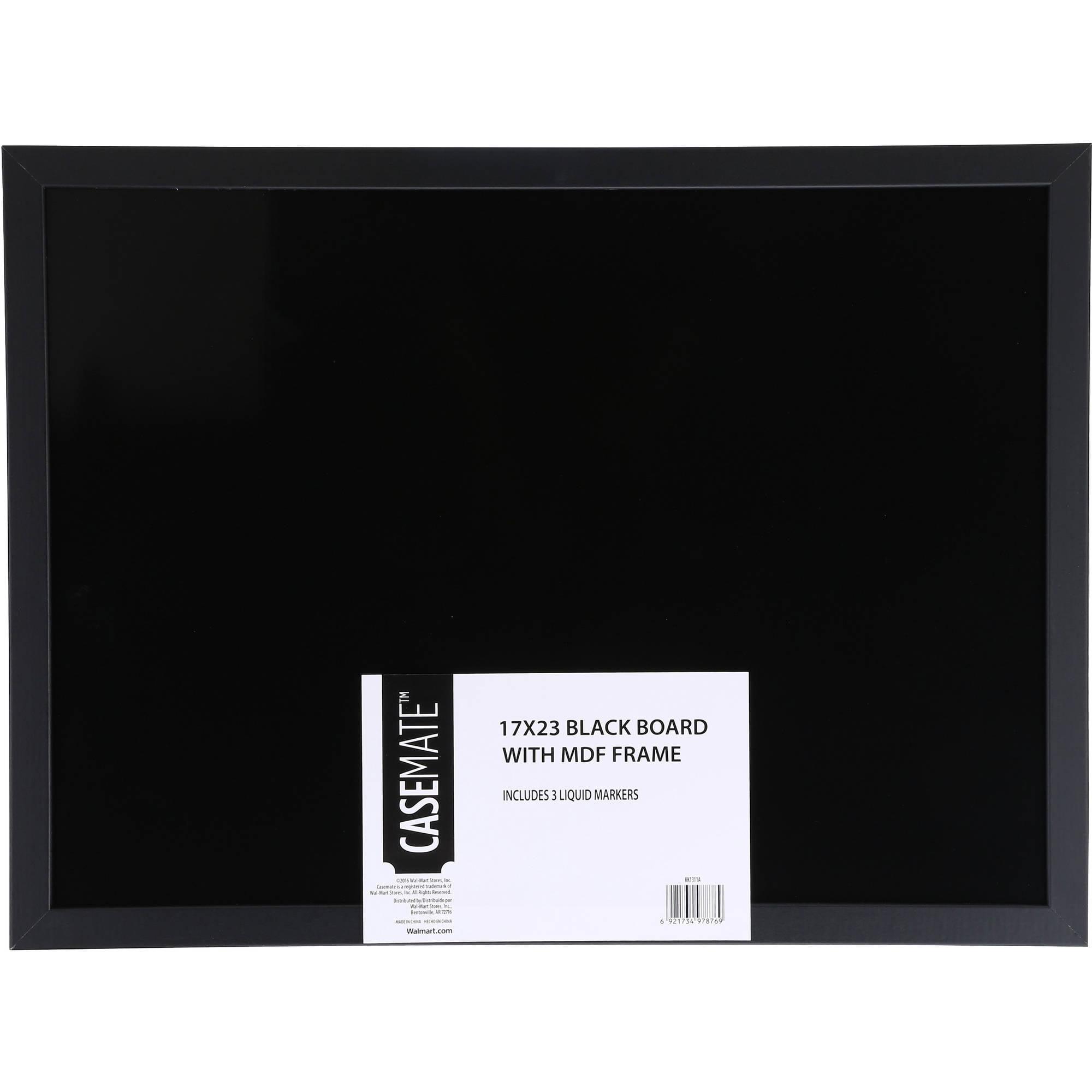 Casemate Black Dry Erase Board and Marker Set, 17\