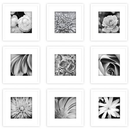- Gallery Perfect 9 Piece White Frame Kit