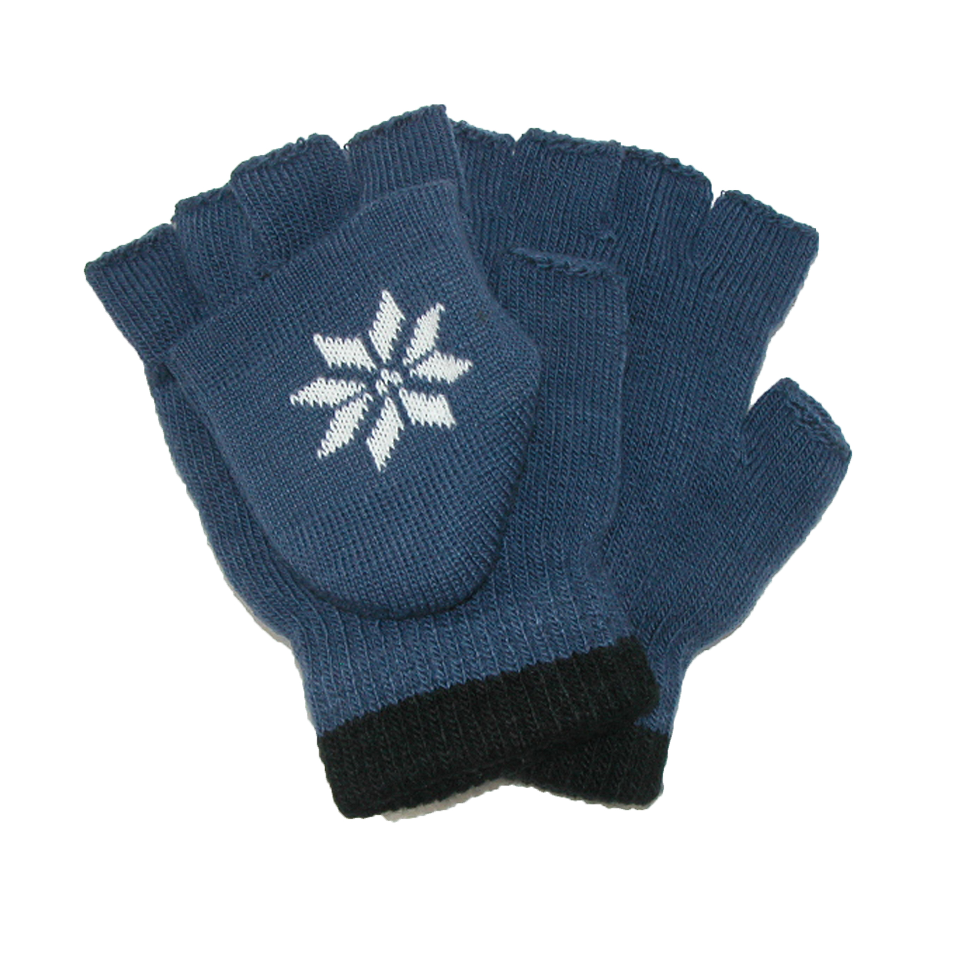CTM®  Boys' Stretch Convertible Fingerless Winter Gloves
