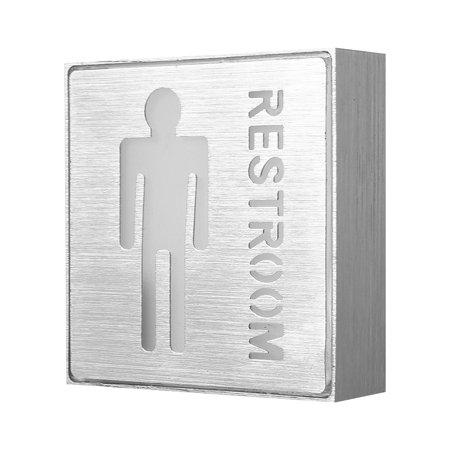Garosa LED Toilet Sign, LED Man Restroom Sign, Aluminum LED Indicator Safety Instructions Man Male Toilet Restroom Symbol 85-265V - image 3 of 7