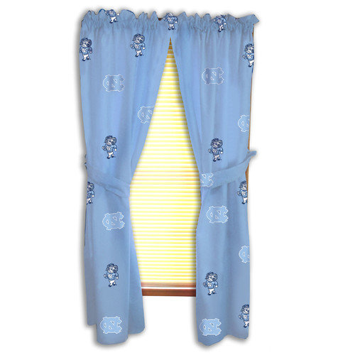 College Covers NCAA UNC Team Curtain Panel Set (Set of 2)