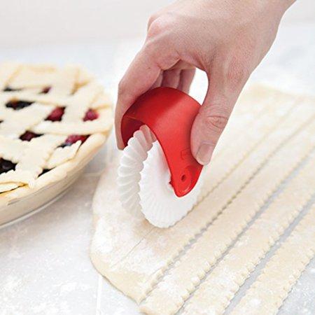 EWAVINC Pastry Wheel Decorator Cutter for Pie Crust Pasta Fondant Noodle Cutter Pastry Womens Glam Pie