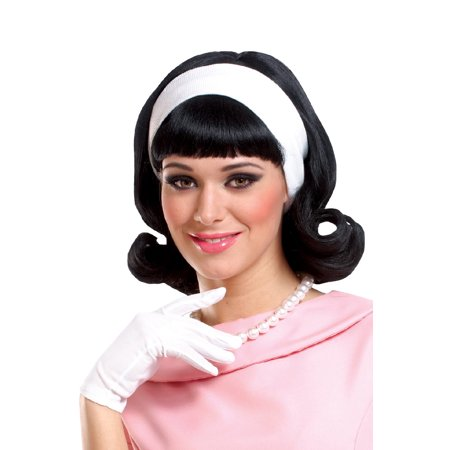1950's Adult Wig with Detachable Headband - 1950 S Costume