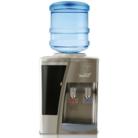 NutriChef PKTWC15SL - Water Dispenser Cooler - Hot & Cold Water Cooler Dispenser System, Countertop Style (Cold Power