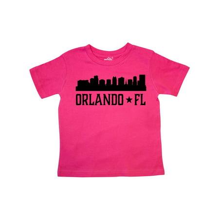 Orlando Florida Skyline City Toddler T-Shirt (Best Weather Time In Orlando Florida)