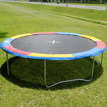 Gymax Trampoline Safety Pad Spring Round Frame Pad Cover Replacement Multi Color