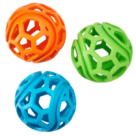 Vibrant Life Fetch Buddy Ball Treat Roller Dog Toy, Assorted Color May Vary